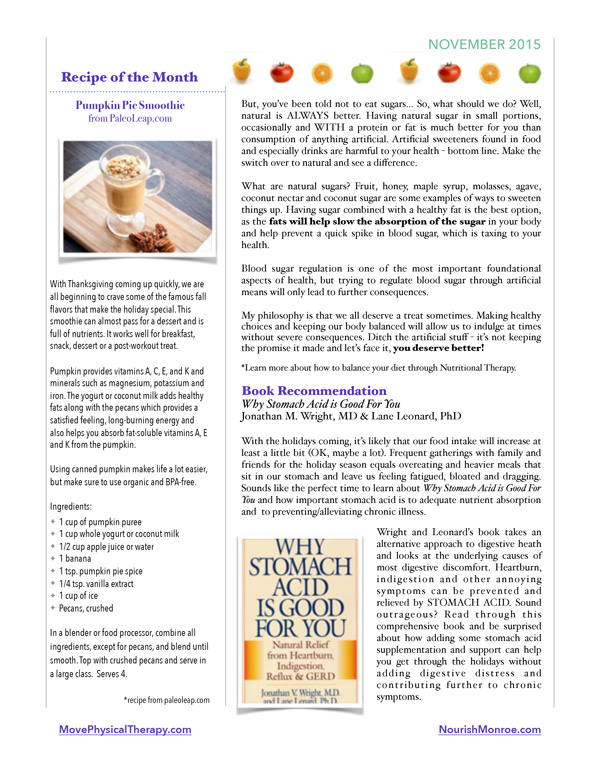 Nourish Your Mind November Newsletter - Page 2